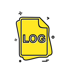 log file type icon design vector image
