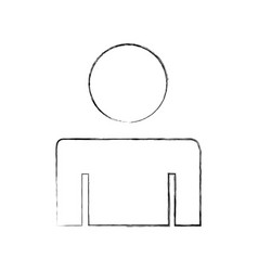 Man gender silhouette isolated icon vector