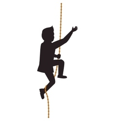 Man rope male avatar person silhouette icon vector