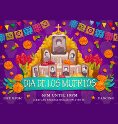 mexican dia de los muertos holiday altar photos vector image