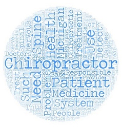 Michigan chiropractor text background wordcloud vector