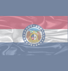 missouri state silk flag vector image