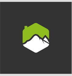 Mountain house logo vector