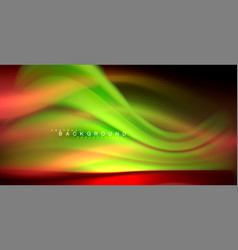 Neon glowing wave magic energy and light motion vector