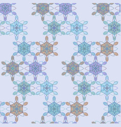 pastel lace floral pattern in blue and red colors vector image