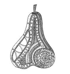 pear zen tangle vector image