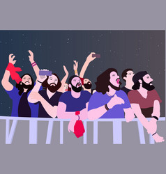 People partying in color vector