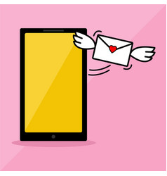 phone series receive love message vector image