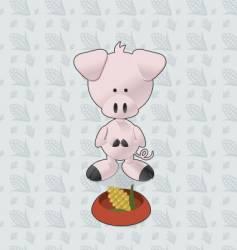 Pig corn vector