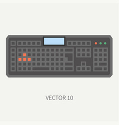 Plain flat color computer part icon vector