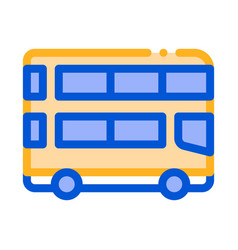 public transport double-decker bus icon vector image