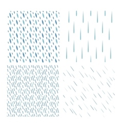 Rain drops pattern set vector