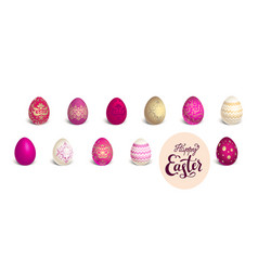 Red colored eggs vector