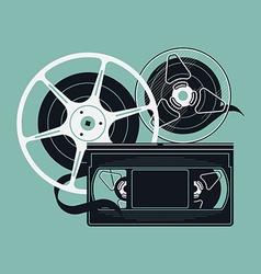 Retro Video Tape Icon vector