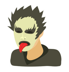 rock musician icon cartoon style vector image