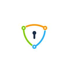 share shield logo icon design vector image
