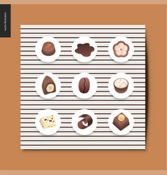 simple things - chocolate vector image