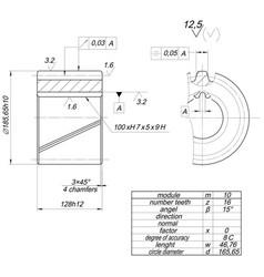 Sketch wheel with circle diameter vector