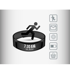 smart wristband wearable technology sport vector image