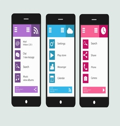 Smartphone material design interface vector