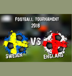 soccer game sweden vs england vector image
