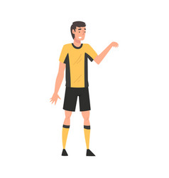 Soccer player in sports uniform male athlete vector