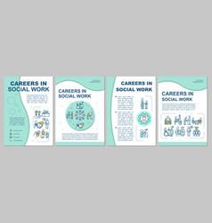 social worker brochure template vector image