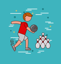 sports or exercise image vector image