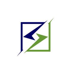 square geometric logo vector image