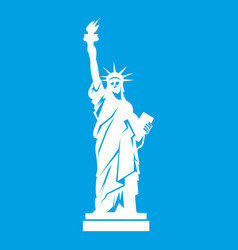 statue of liberty icon white vector image