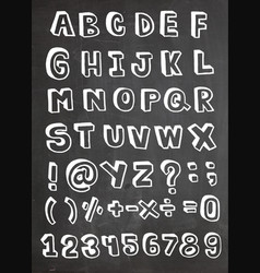Stylized retro font and alphabet vector