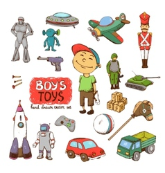 Toys for boy vector