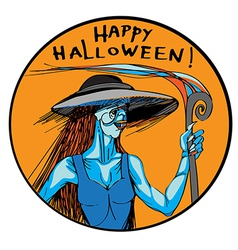 ugly sexy witch vector image