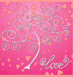 Valentines day background with bright lights vector