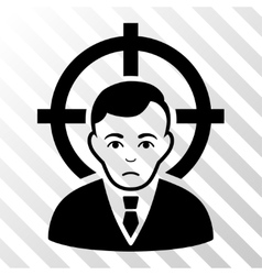 Victim Businessman Icon vector