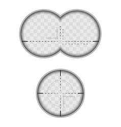 view from binoculars vector image