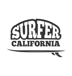 Vintage black surf emblem logo vector image