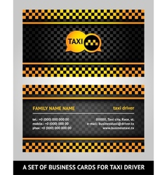 visiting cards - taxi vector image