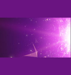 Abstract space violet background vector