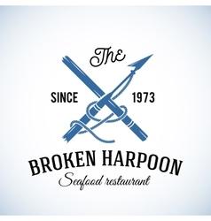 Broken Harpoon Seafood Restaurant Abstract vector image vector image