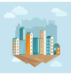 city concept in flat style vector image vector image