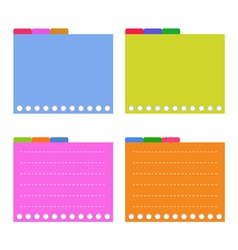 Four Colorful Lined Spiral Notepad Papers vector image vector image