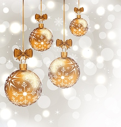 Glowing holiday background with set Christmas vector image