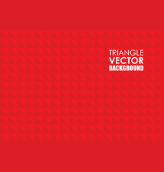 red triangle background vector image vector image