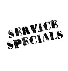 service specials rubber stamp vector image vector image
