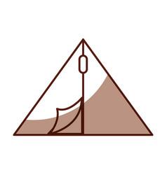 Shadow camping tent cartoon vector