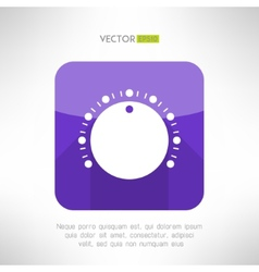 Volume knob icon in clean and simple modern flat vector image vector image