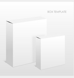 Blank box on a white background vector