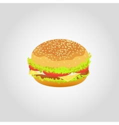 Hamburger isolated on white background vector image vector image