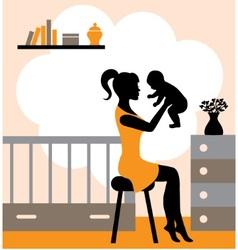 joys of motherhood vector image